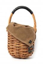 ebagos(エバゴス)の古着「小ぶりバケツ型カゴバッグ」