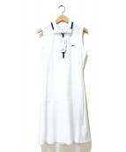 LACOSTE(ラコステ)の古着「ジッパーテニスドレス」|ホワイト