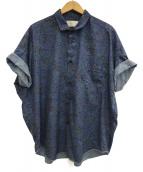TROVE(トローブ)の古着「半袖シャツ」 ブルー