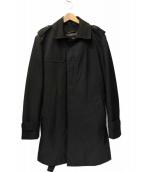 HUGO BOSS(ヒューゴボス)の古着「ライナー付ステンカラーコート」|ブラック