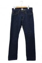 TELLASON(テラソン)の古着「スリムストレートデニムパンツ」