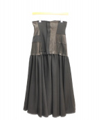 Yohji Yamamoto(ヨウジヤマモト)の古着「18AW/レザーパネルコルセットドレス」