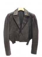 Yohji Yamamoto(ヤマモトヨウジ)の古着「レザージャケット」|ブラック