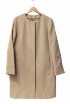 ROPE(ロペ)の古着「ノーカラーコート」