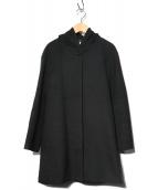 M-premier(エムプルミエ)の古着「ウールカシミヤフーデッドコート」|ブラック