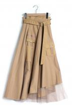Ameri VINTAGE(アメリビンテージ)の古着「ミリタリーアシンメトリースカート」