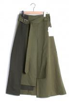 Ameri VINTAGE(アメリビンテージ)の古着「ダブルラップミリタリースカート」