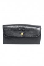 IL BISONTE(イル ビゾンテ)の古着「長財布」|ブラック