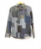 Vivienne Westwood man(ヴィヴィアンウエストウッドマン)の古着「パネルシャツ」|ブルー