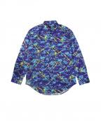 LOVE MOSCHINO(ラブモスキーノ)の古着「スプラッシュペイントシャツ」 パープル