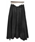 YOHJI YAMAMOTO(ヨウジヤマモト)の古着「18AW/ウールギャバジンムラ染サルエルスカート」