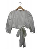 WHIT(ダブルエイチアイティー)の古着「カシュクールブラウス」|ホワイト