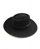 Lock&Co(ロックアンドコー)の古着「ポークパイHAT」|ブラック