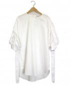 MONOGRAPHIE(モノグラフィー)の古着「パフスリーブブラウス」|ホワイト