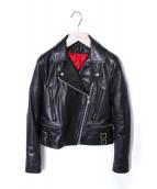 Victoria Beckham(ヴィクトリア・ベッカム)の古着「レザーダブルライダースジャケット」|ブラック
