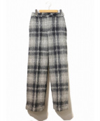 MADE IN HEAVEN(メードインヘブン)の古着「fluffy trousers」|ネイビー