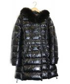 DUVETICA(デュベティカ)の古着「ファー付ダウンコート」|ブラック