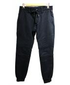 wjk(ダブルジェイケイ)の古着「ジャージバイカーリブパンツ」|ブラック