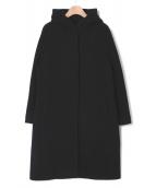 ANAYI(アナイ)の古着「エアリービーバーフードコート」 ブラック