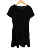 ANAYI(アナイ)の古着「ジャガードレースワンピース」|ブラック
