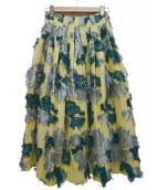 FRAY ID(フレイアイディー)の古着「フラワージャガードスカート」