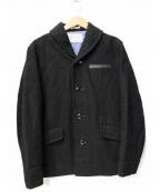DELUXE(デラックス)の古着「メルトンコート」|ブラック