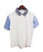 COMME des GARCONS EDITED(コムデギャルソン エディテッド)の古着「切替ポロシャツ」|ブルー