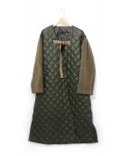 muller of yoshiokubo(ミュラー オブ ヨシオクボ)の古着「ベンダウンキルティングコート」|カーキ
