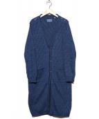 BLUE BLUE(ブルーブルー)の古着「オブリックタックロングカーディガン」|ネイビー