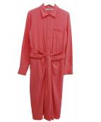 JIL SANDER(ジルサンダー)の古着「シャツワンピース」|ピンク