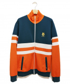 LOVE MOSCHINO(ラブモスキーノ)の古着「トラックジャケット」 オレンジ×グリーン