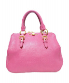 MIU MIU(ミウミウ)の古着「2WAYショルダーバッグ」 ピンク