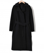 22 OCTOBRE(22オクトーブル)の古着「ウールカシミヤ締結リバーマキシコート」|ブラック