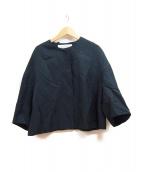 ADORE(アドーア)の古着「ノーカラージャケット」|ダークグリーン