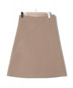 Drawer(ドゥロワー)の古着「メルトンバックジップスカート」|ベージュ