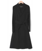 Drawer(ドゥロワー)の古着「ウールカシミヤラップコート」|ブラック