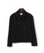 Maison Margiela(メゾン マルジェラ)の古着「メルトンPコート」|ネイビー