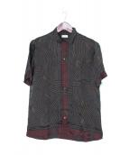 DRIES VAN NOTEN(ドリスヴァンノッテン)の古着「オープンカラー総柄シャツ」|オリーブ