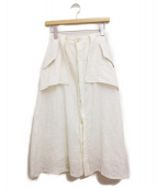 Y's(ワイズ)の古着「リネンスカート」|オフホワイト