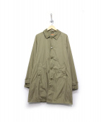 ASPESI(アスペジ)の古着「ナイロンステンカラー1コート」|カーキ