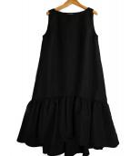 CELFORD(セルフォード)の古着「グログランAラインワンピース」|ブラック