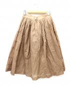 tricot COMME des GARCONS(トリコ・コム デ ギャルソン)の古着「タックフレアスカート」|ベージュ