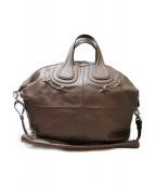 GIVENCHY(ジバンシー)の古着「ナイチンゲール/2WAY型押しバッグ」|グレー
