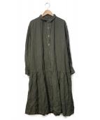nest Robe(ネストローブ)の古着「リネンシャツワンピース」|オリーブ