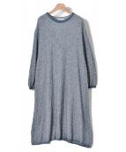 mina perhonen(ミナ ペルホネン)の古着「ニットワンピース」|ブルー