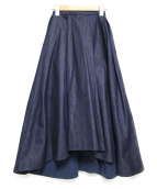 CHESTY(チェスティー)の古着「デニムアシンメトリーヘムスカート スカート」