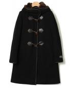 BEAUTY&YOUTH(ビューティアンドユース)の古着「メルトンファーフードライナーコート」|ブラック
