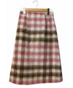 ANAYI(アナイ)の古着「シャギーチェックスカート」