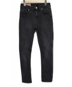 Acne Studios Bla Konst(アクネ ストゥディオズ ブロ コンスト)の古着「デニムパンツ パンツ」|ブラック