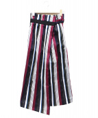 UN3D.(アンスリード)の古着「ストライプハイウエストラップスカート」